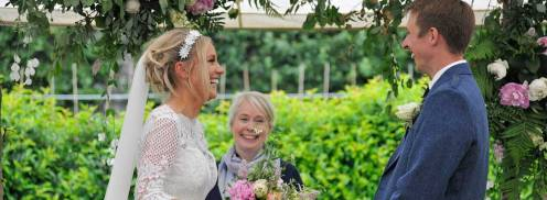 Lisa and Scott get married at Myres Castle