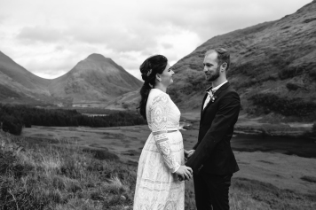 Amy and Steven getting married in Glencoe